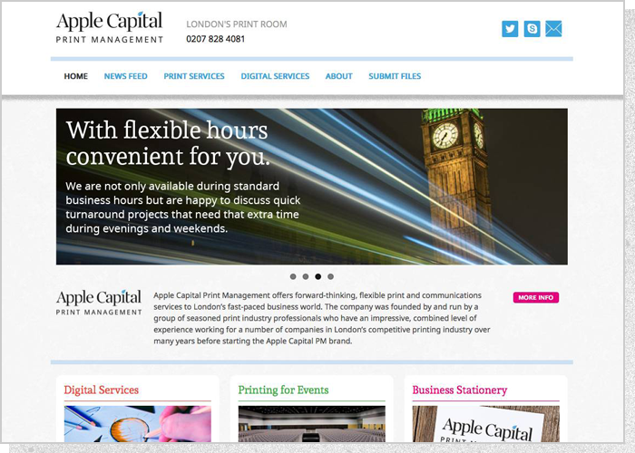 Apple Capital PM Website - Screen 1