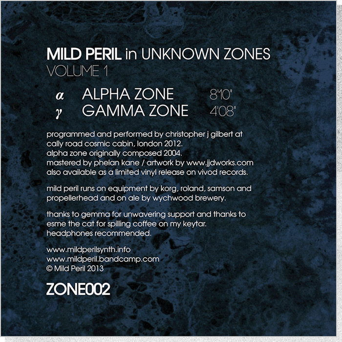 Mild Peril - Unknown Zones back cover